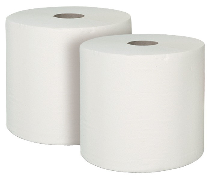 Putzpapier 3LG weiß 25X25CM (1 Pak = 2 Rol)