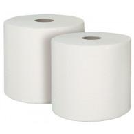 Papir za čišćenje u roli, od celuloze, 2-slojni, bijeli, 750 listova, 240 x 340 mm, pakiranje = 2 role