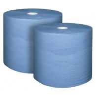 Papir za čišćenje u roli, 3-slojni, plavi, 1000 listova, 220 x 360 mm, pakiranje = 2 role